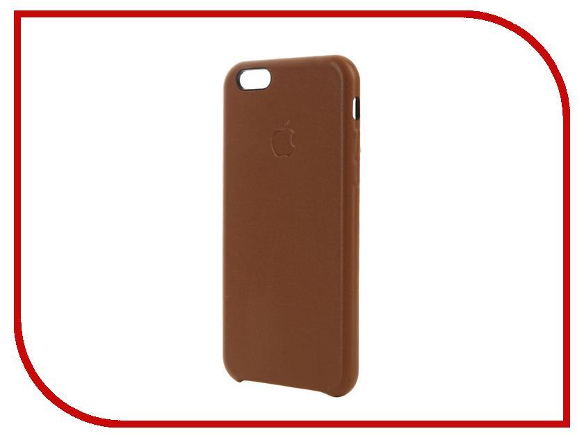 Аксессуар Чехол Krutoff Leather Case для iPhone 6/6S Brown 10754 аксессуар чехол аккумулятор krutoff x4 3800 mah для iphone 6 black 48186