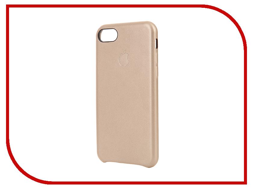Аксессуар Чехол Krutoff Leather Case для iPhone 7 Gold 10763<br>