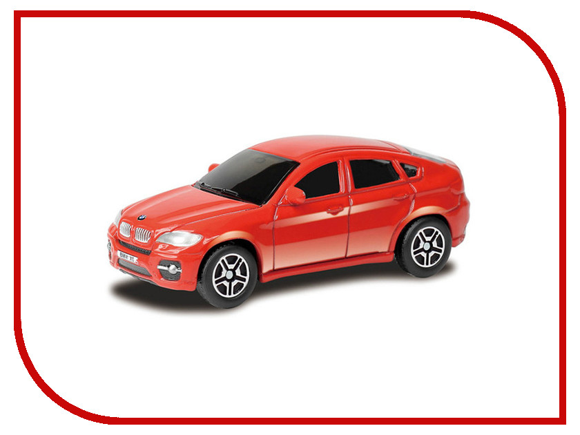 Машина PitStop BMW X6 Red PS-344002S-R машина pitstop audi r8 v10 red ps 344996s r