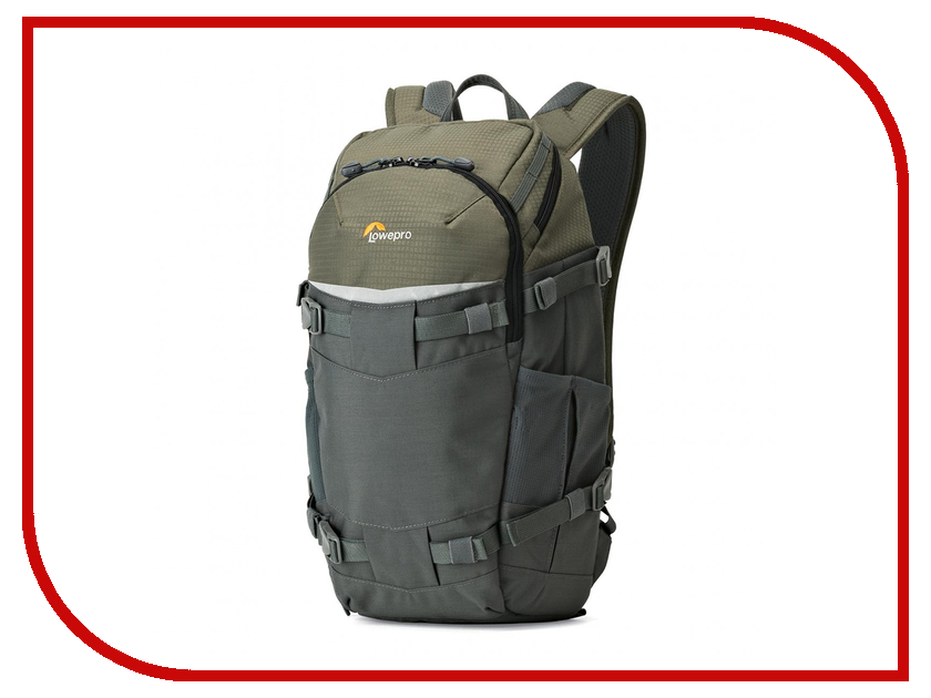 LowePro Flipside Trek BP 250 AW Grey-Dark Green 84448 wholesale genuine lowepro flipside sport 20l aw dslr photo camera bag daypack backpack with all weather cover