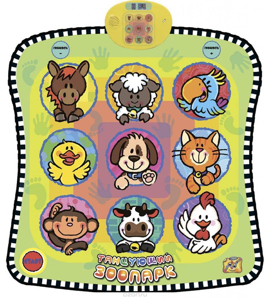 Музыкальный коврик Знаток Танцующий Зоопарк SLW9885 цена