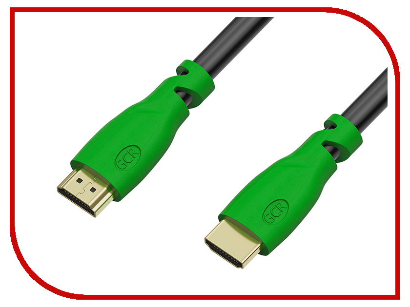Аксессуар Greenconnect HDMI M/M v2.0 0.3m Black-Green GCR-HM321-0.3m