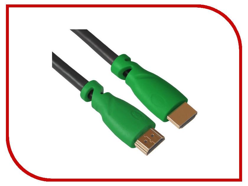 Аксессуар Greenconnect HDMI M/M v2.0 0.5m Black-Green GCR-HM321-0.5m