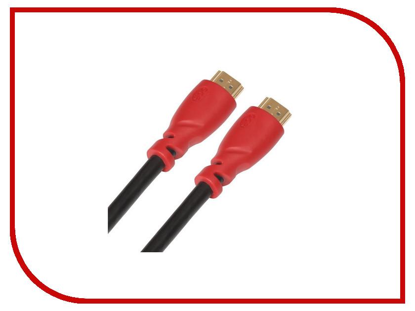 Аксессуар Greenconnect HDMI M/M v1.4 1m Black-Red GCR-HM350-1.0m