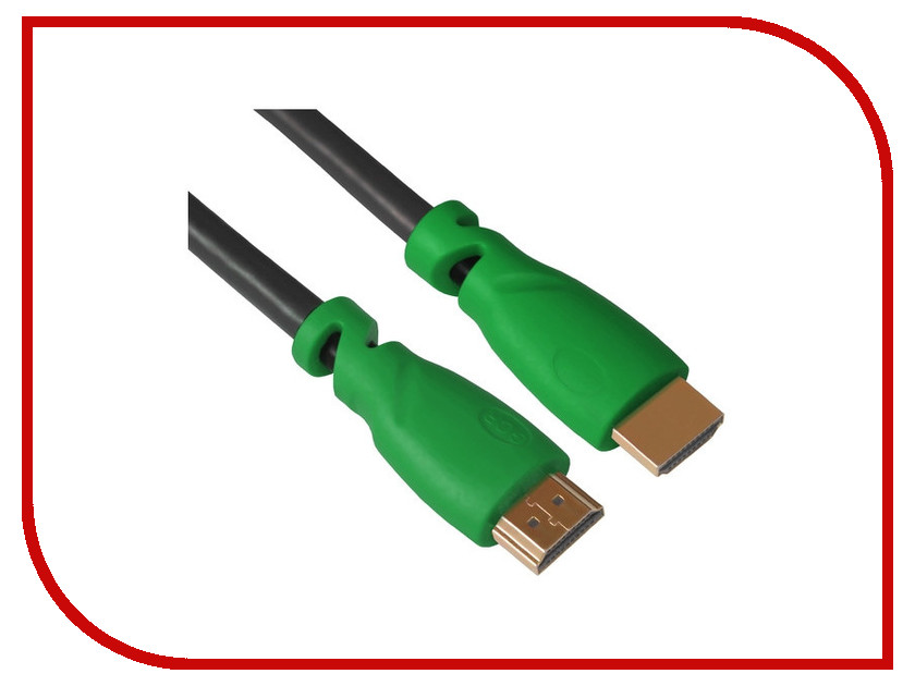 Аксессуар Greenconnect HDMI M/M v2.0 3m Black-Green GCR-HM321-3.0m аксессуар greenconnect hdmi m m v1 4 0 3m black red gcr hm350 0 3m