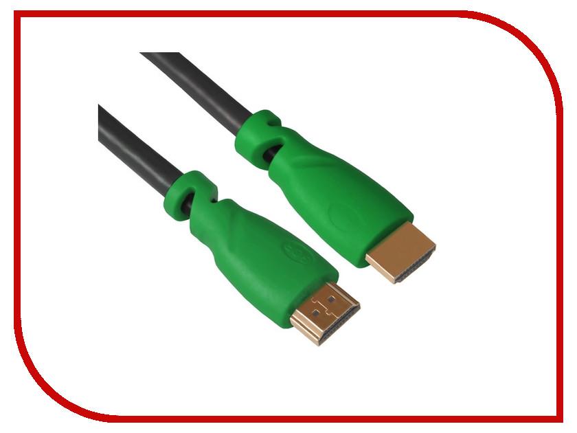 Аксессуар Greenconnect HDMI M/M v1.4 4m Black-Green GCR-HM321-4.0m<br>