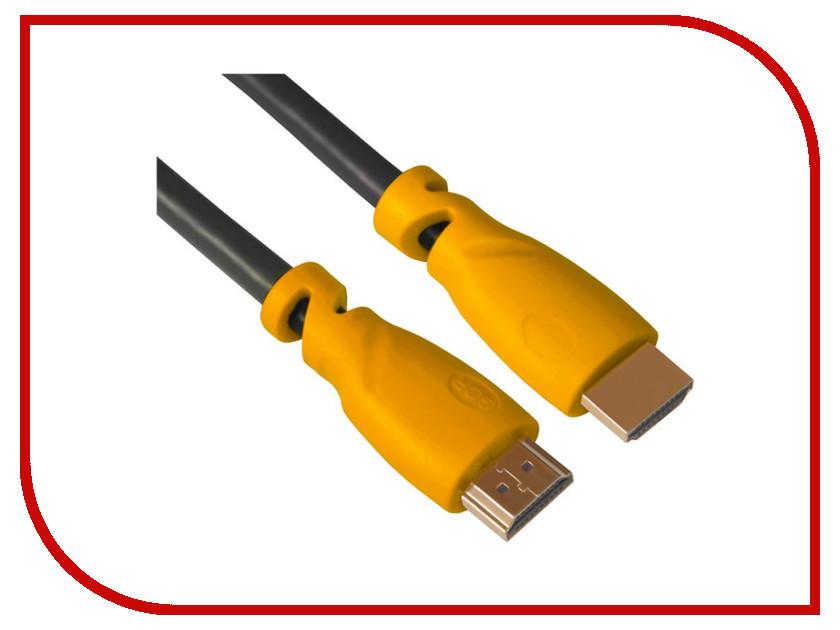 Аксессуар Greenconnect HDMI M/M v2.0 0.5m Black-Yellow GCR-HM341-0.5m
