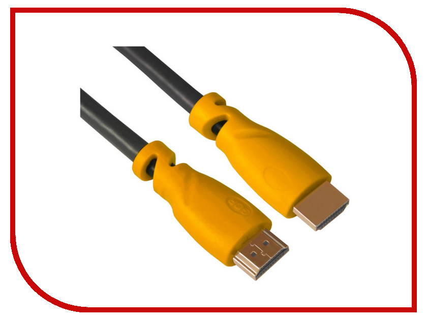 Аксессуар Greenconnect HDMI M/M v2.0 3m Black-Yellow GCR-HM341-3.0m аксессуар greenconnect hdmi m m v1 4 0 3m black red gcr hm350 0 3m