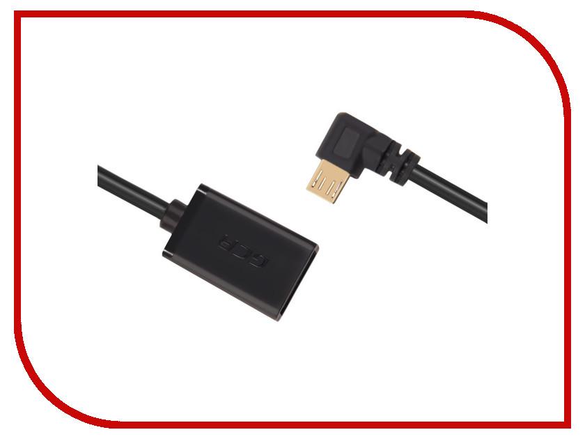Аксессуар Greenconnect OTG Micro USB - USB 2.0 AF 0.3m Black GCR-AMB4AF-AA-G-0.3m<br>