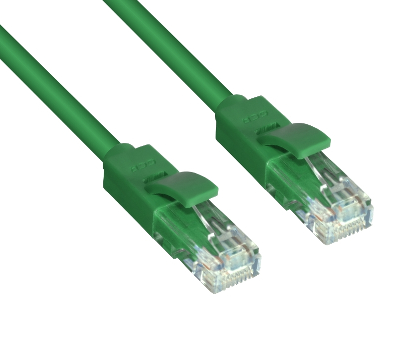 Сетевой кабель Greenconnect UTP 24AWG cat.5e RJ45 T568B 10m Green GCR-LNC05-10.0m