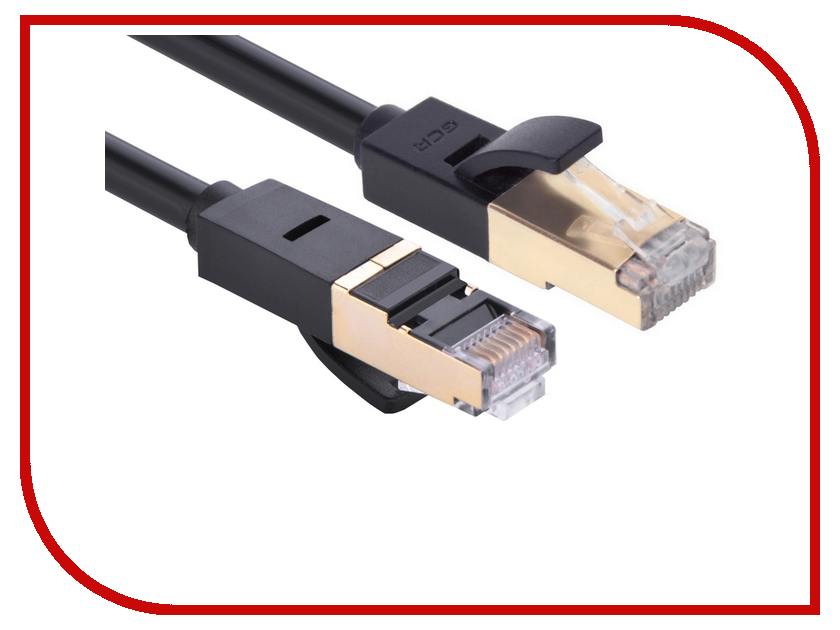 Сетевой кабель Greenconnect Deluxe UTP 23AWG cat.6 RJ45 T568B 3m Black GCR-LNCG626-3.0m аксессуар greenconnect hdmi m m v1 4 0 3m black red gcr hm350 0 3m
