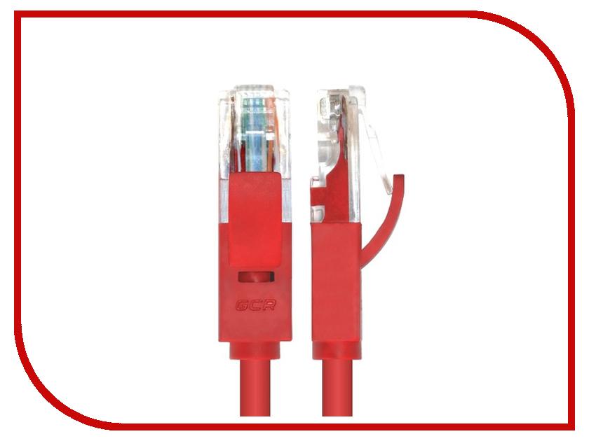 Аксессуар Greenconnect UTP 24AWG cat.5e RJ45 T568B 5m Red GCR-LNC04-5.0m<br>
