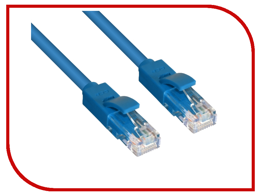 Аксессуар Greenconnect UTP 24AWG cat.5e RJ45 T568B 0.9m Blue GCR-LNC01-0.9m<br>