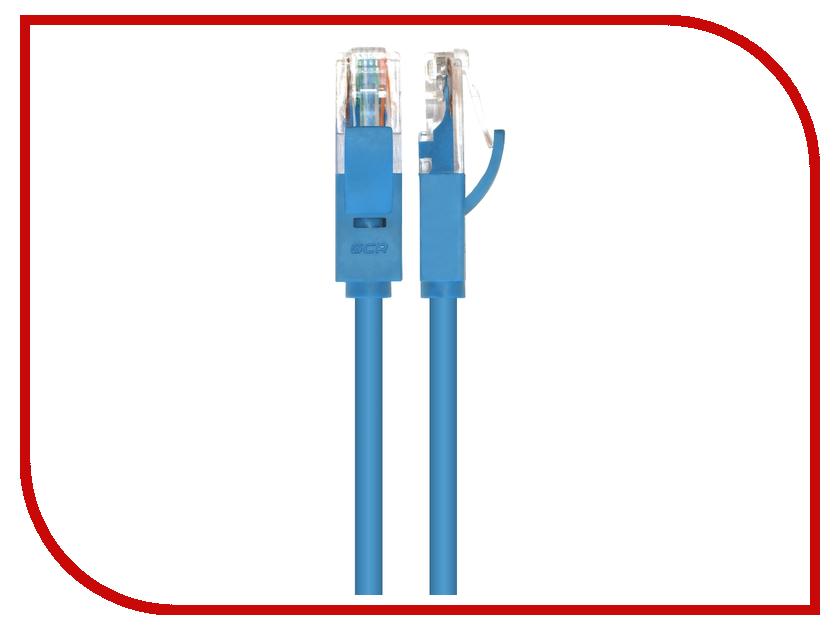 Аксессуар Greenconnect Premium UTP 24AWG cat.5e RJ45 T568B 10m Blue GCR-LNC011-10.0m<br>