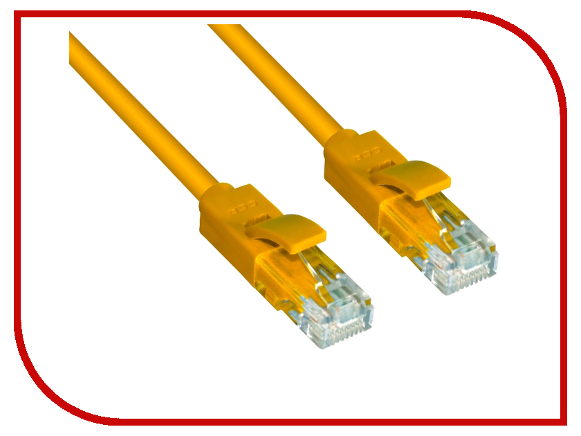Сетевой кабель Greenconnect UTP 24AWG cat.6 RJ45 T568B 2m Yellow GCR-LNC602-2.0m 1pcs 2m 5m round utp ethernet network cat 5 cable rj45 patch lan cord wire computer cable connectors blue color