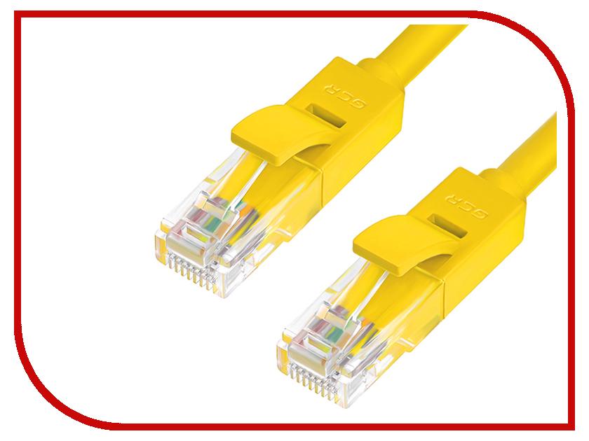 Аксессуар Greenconnect UTP 24AWG cat.6 RJ45 T568B 1m Yellow GCR-LNC602-1.0m<br>