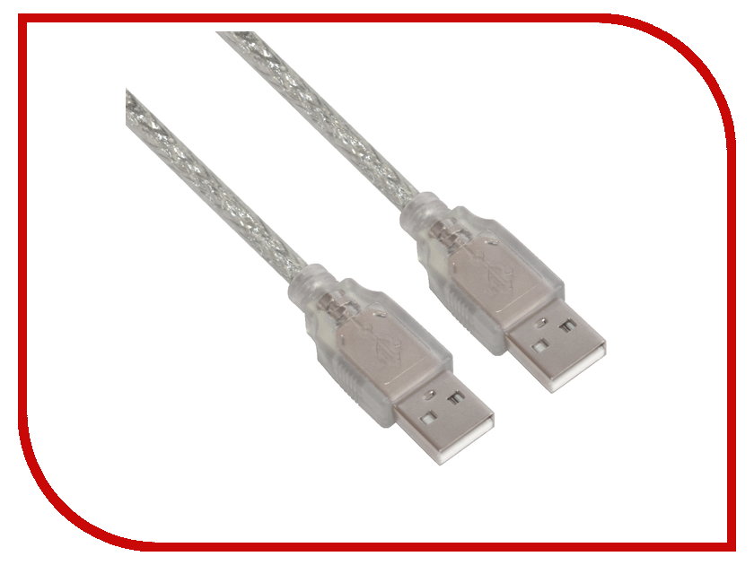 Аксессуар Greenconnect Premium USB 2.0 AM 2m Transparent GCR-UM3M-BD2S-2.0m<br>