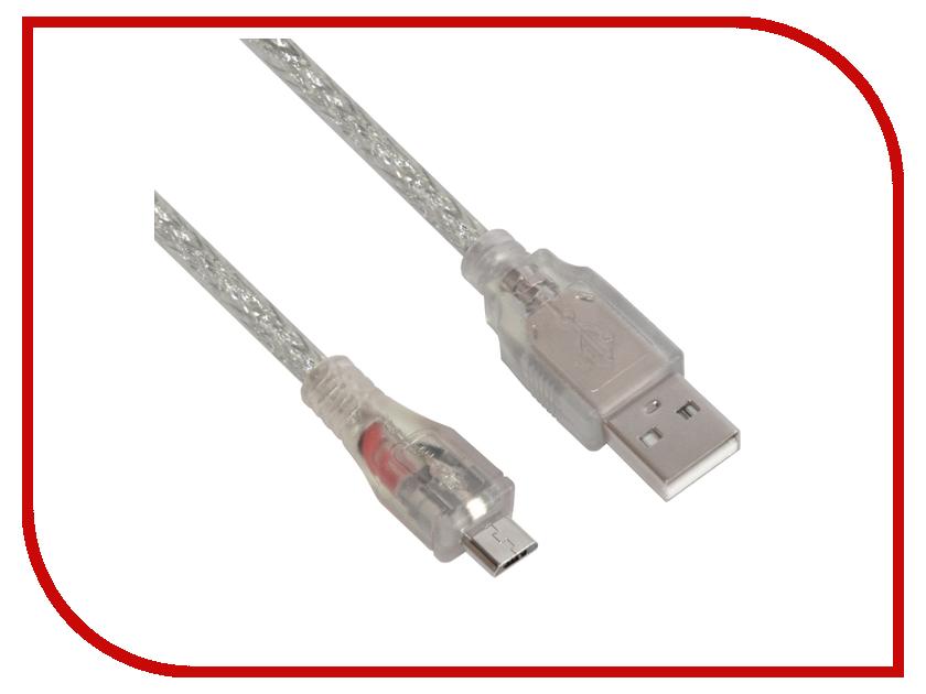 Аксессуар Greenconnect Premium Micro USB 2.0 AM - Micro B 5pin 5.0m Transparent GCR-UA2MCB2-BD2S-5.0m аксессуар greenconnect usb am micro b 5pin 0 5m white green gcr ua9mcb3 bd 0 5m