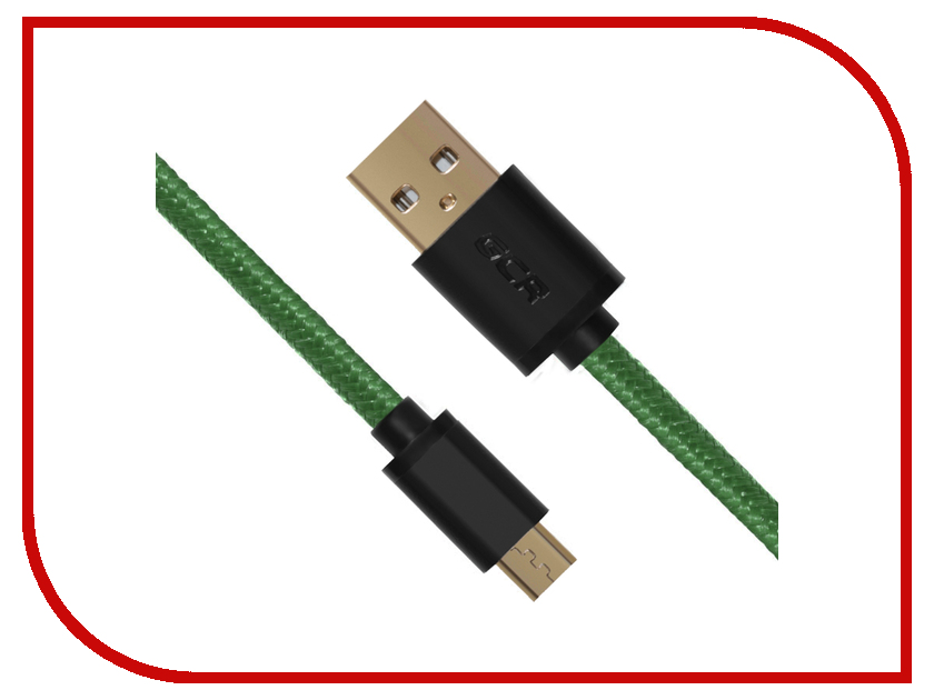 Аксессуар Greenconnect Micro USB 2.0 AM - Micro B 5pin 0.15m Green GCR-UA11MCB6-BB2S-G-0.15m<br>