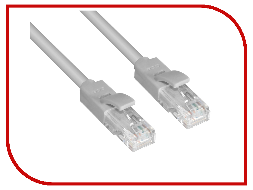 Аксессуар Greenconnect UTP 23AWG cat.6 RJ45 T568B 5m Grey GCR-LNC603-5.0m<br>