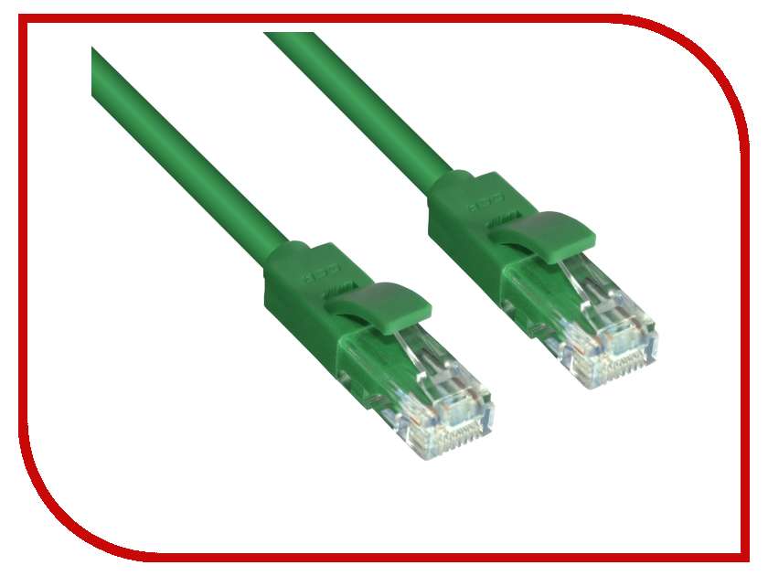 Сетевой кабель Greenconnect UTP 23AWG cat.6 RJ45 T568B 0.3m Green GCR-LNC605-0.3m аксессуар greenconnect deluxe utp 23awg cat 6 rj45 t568b 1m black gcr lncg626 1 0m