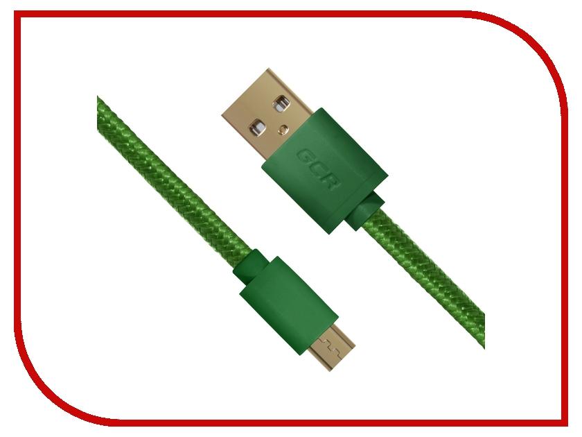 Аксессуар Greenconnect Micro USB 2.0 AM - Micro B 5pin 2m Green GCR-UA11MCB5-BB2SG-2.0m<br>