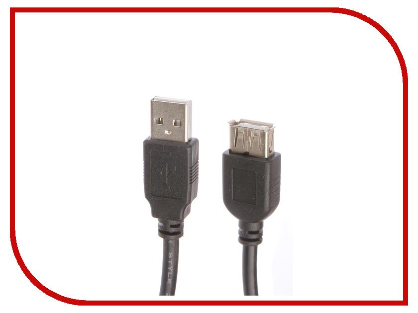 Аксессуар Greenconnect PRO USB 2.0 AM - AF 1m Black GCR-UEC3M-BD2S2F-1.0m<br>