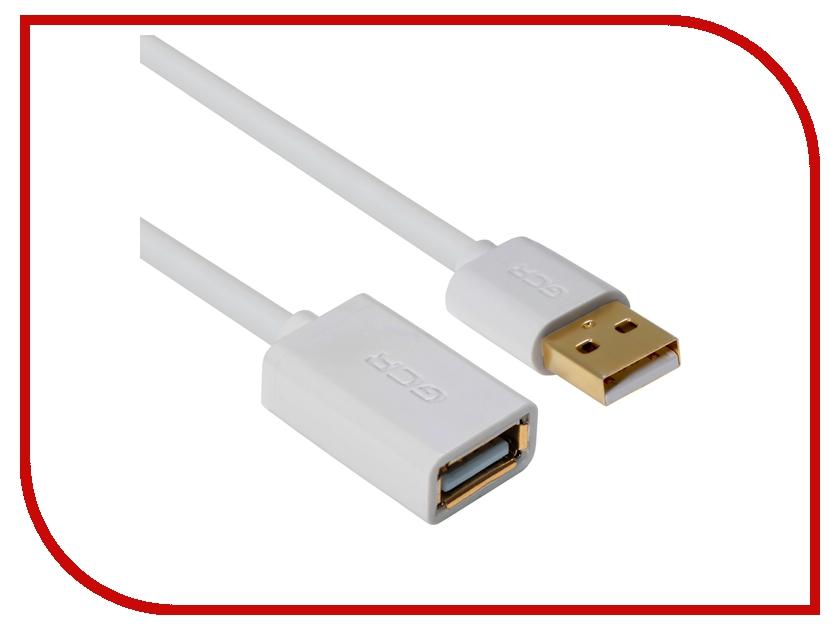 Аксессуар Greenconnect USB 2.0 AM - AF 0.3m White GCR-UEC5M-AAG-0.3m<br>