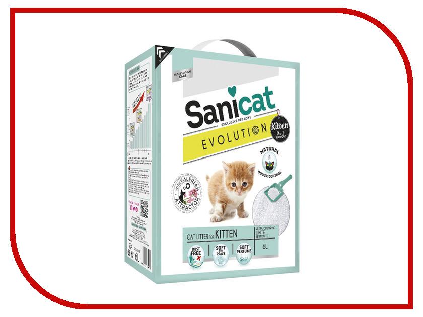 Наполнитель Sanicat Evolution Kitten 6L 170.005 sanicat oxygen power в москве