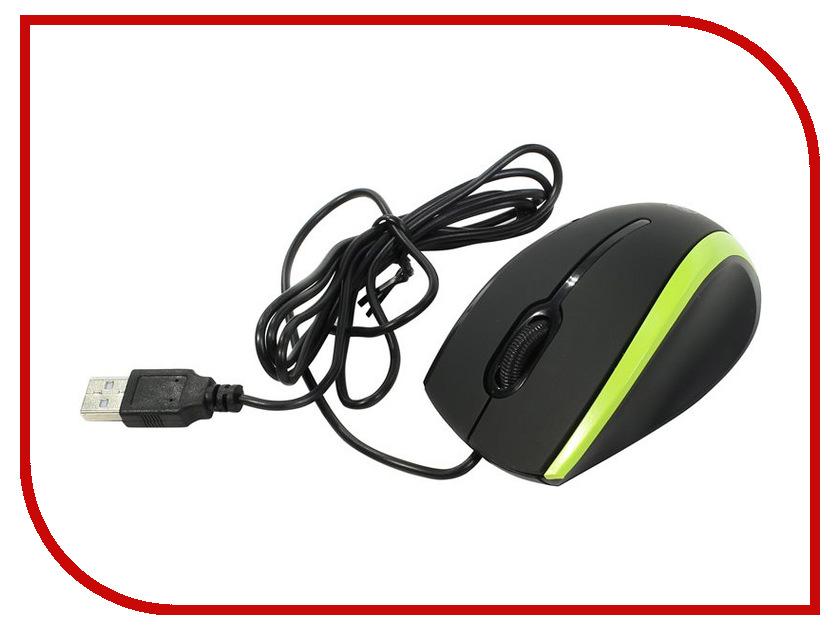 Мышь проводная Defender MM-340 Black-Green 52346
