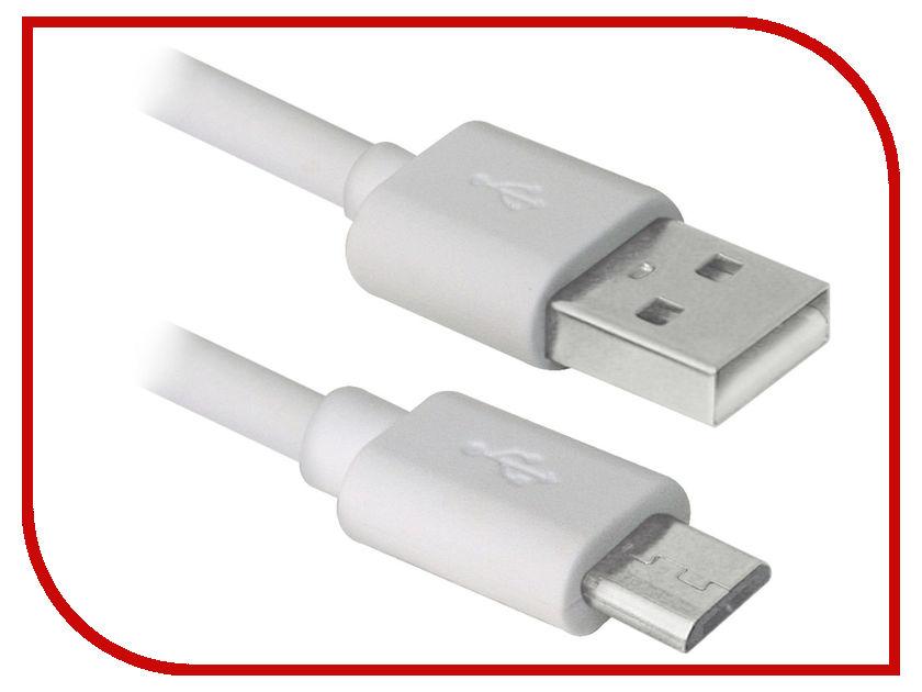 Аксессуар Defender USB AM - MicroUSB 3m USB08-10BH White 87468 аксессуар tundra 4t 3m 1002762