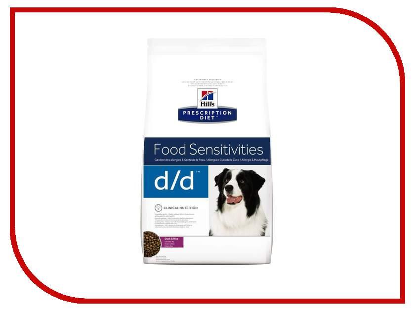 Корм Hills Prescription Diet Canine D/D Allergy & Skin Care Утка/Рис 2kg для собак 9117 корм для собак хиллс d d при аллергии утка рис сух пак 5кг