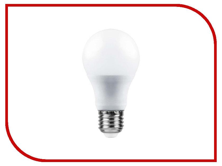 Лампочка Saffit E27 A60 10W 6400K 230V SBA6010 55006 philips ess ledbulb a60 e27 5w 230v холодный свет