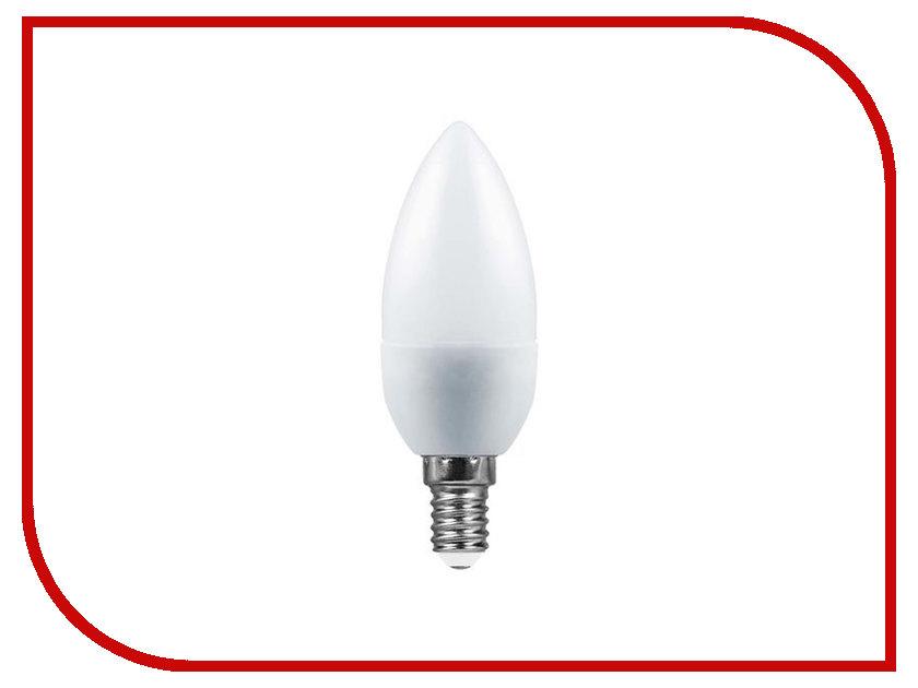 Лампочка Saffit E14 C37 7W 4000K 230V SBC3707 55031 лампочка saffit 40w 4000k 230v e27 e40 sbhp1040 55092
