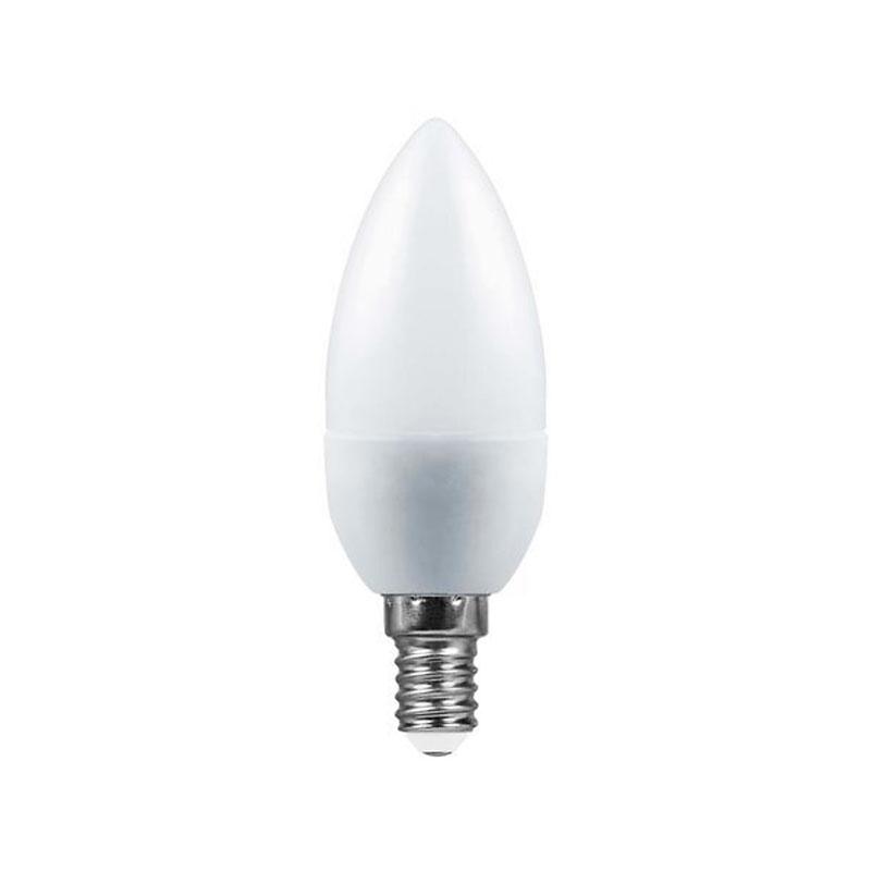 Лампочка Saffit C37 E14 7W 230V 4000K 560Lm Daylight SBC3707 20992 / 55031 лампочка saffit e27 a65 25w 4000k 230v sba6525 55088