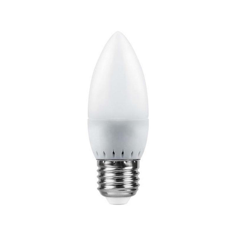 Лампочка Saffit C37 E27 7W 230V 4000K 560Lm Daylight SBC3707 55033 лампочка saffit e27 a65 25w 4000k 230v sba6525 55088