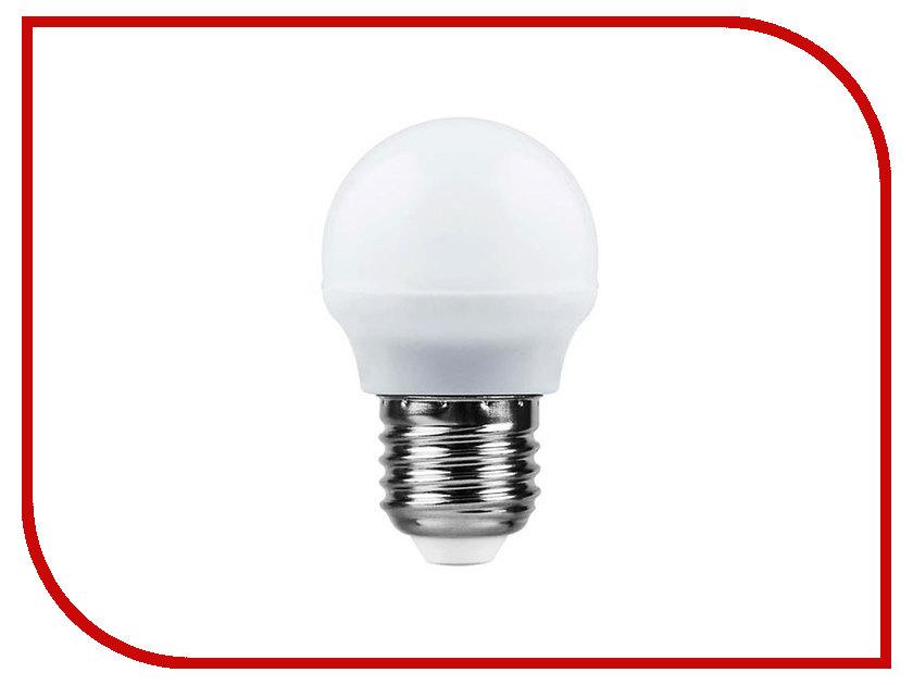 Лампочка Saffit E27 G45 7W 2700K 230V SBG4507 55036 лампа светодиодная шар saffit sbg4507 e27 7w 4000k 55037