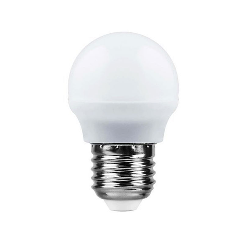 Лампочка Saffit G45 E27 7W 230V 2700K 560Lm Warm Light SBG4507 55036