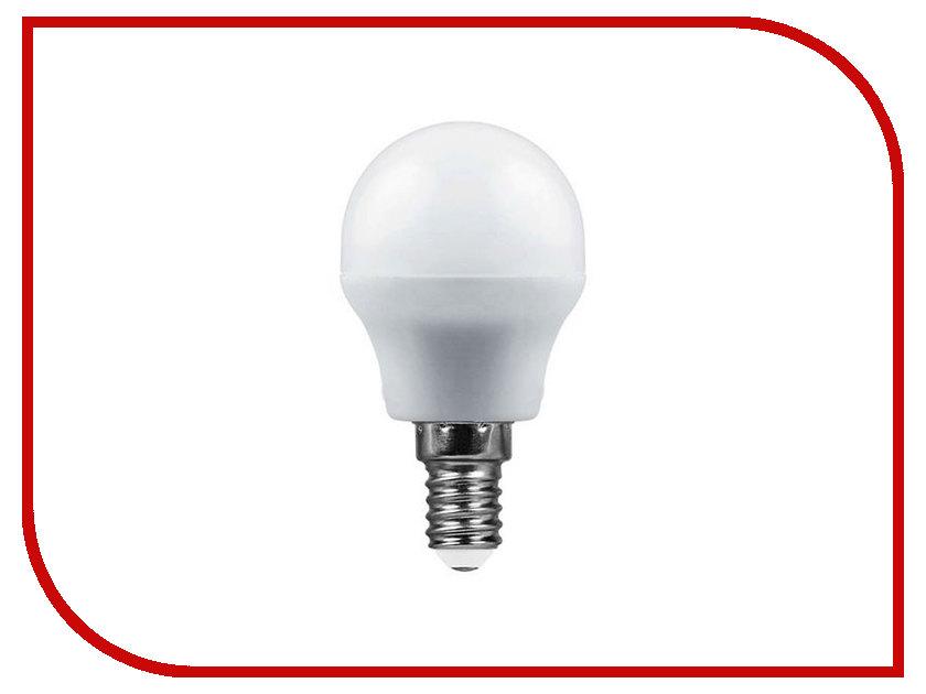 Лампочка SAFFIT G45 7W 2700K 230V E14 SBG4507 55034