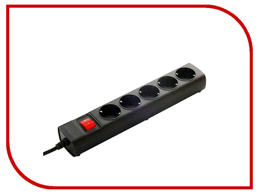 Сетевой фильтр HuntKey 5 Sockets 5m Black SGA501<br>