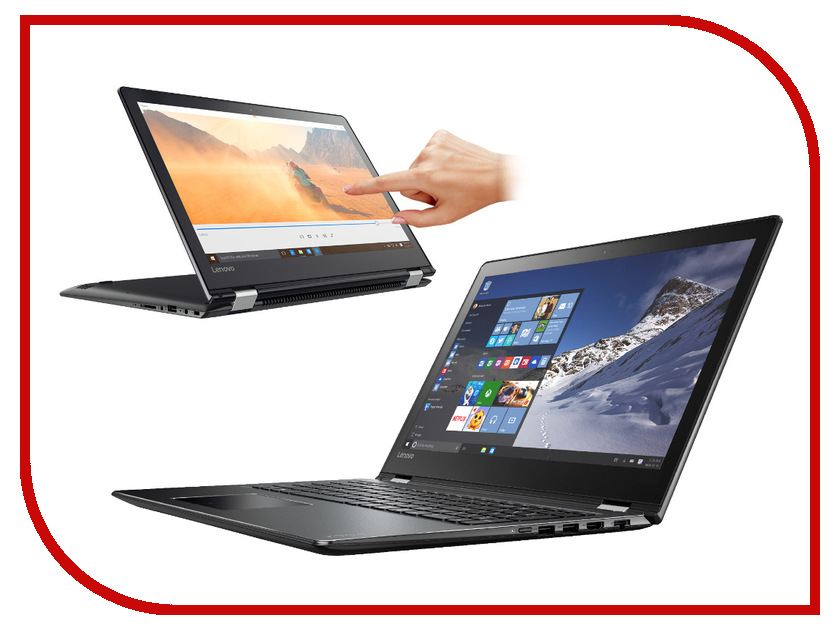 Ноутбук Lenovo Yoga 510-15IKB 80VC000GRK Intel Core i3-7100U 2.4 GHz/8192Mb/1000Gb/No ODD/Intel HD Graphics/Wi-Fi/Bluetooth/Cam/15.6/1920x1080/Windows 10 64-bit<br>