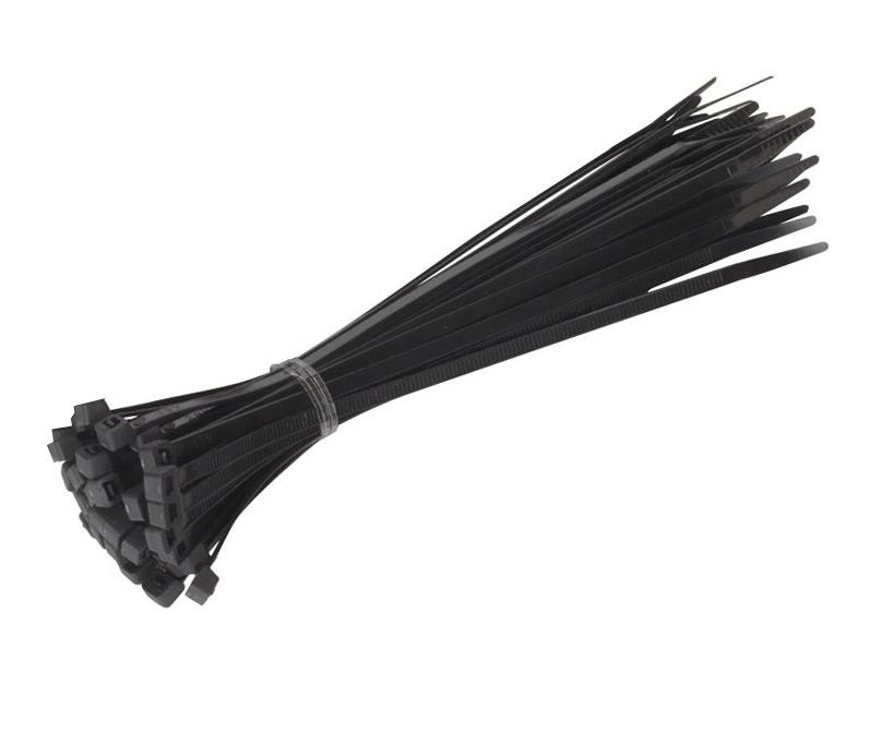 Стяжки нейлоновые ExeGate CV-200B 200mm (100шт) Black 253852