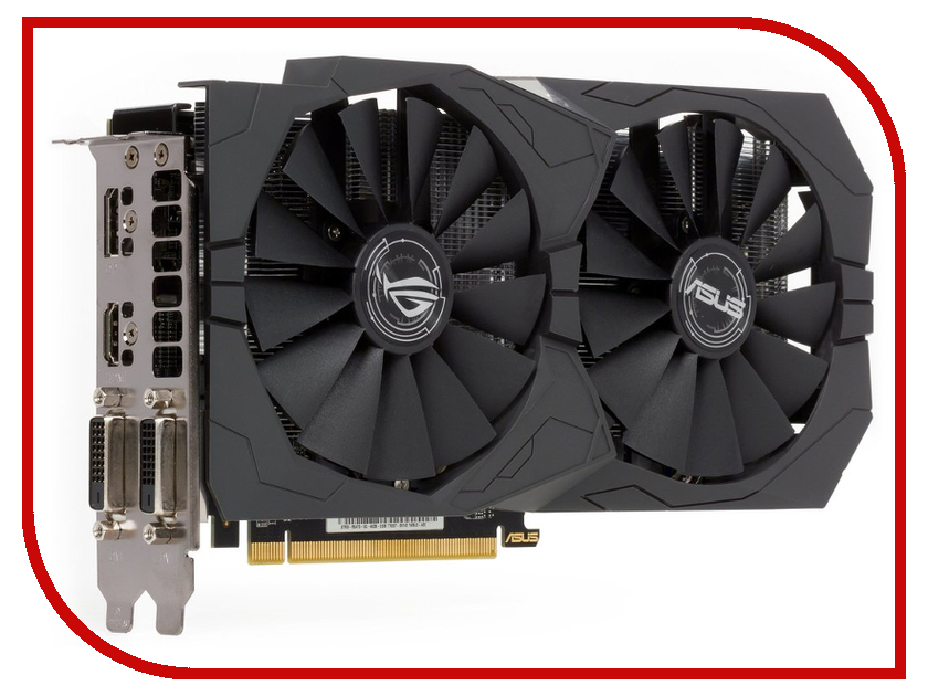 Видеокарта ASUS Radeon RX 470 1206Mhz PCI-E 3.0 8192Mb 6600Mhz 256 bit 2xDVI HDMI HDCP Strix Gaming STRIX-RX470-8G-GAMING 90YV09J1-M0NA00<br>