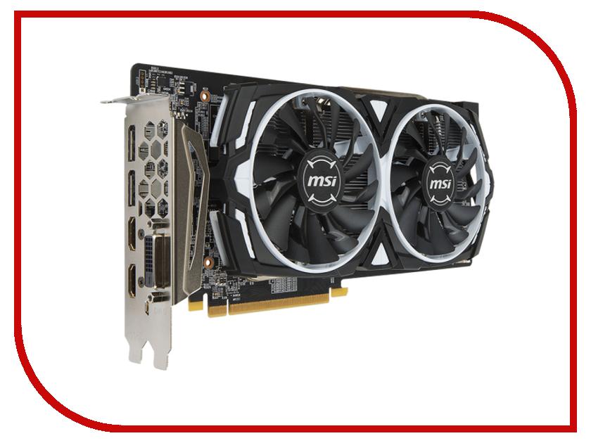Видеокарта MSI Radeon RX 480 1291Mhz PCI-E 3.0 8192Mb 8000Mhz 256 bit DVI 2xHDMI HDCP RX 480 Armor 8G OC 912-V341-029
