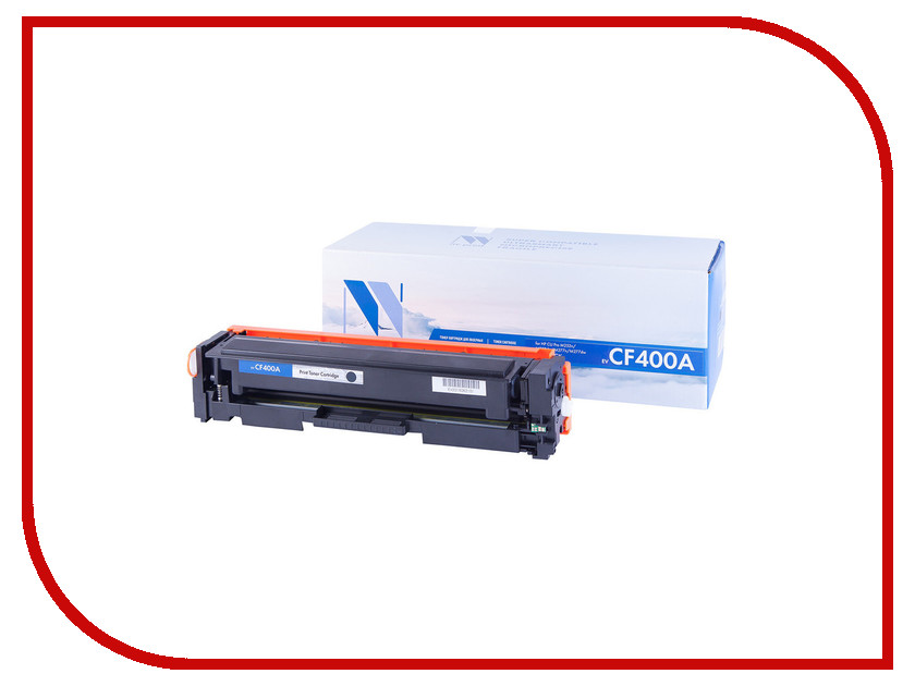Картридж NV Print CF400A Black для HP LaserJet Color Pro M252dw/MFP-M277dw 1500k toner reset chip for hp colour laserjet pro m252dw m252n mfp m277dw m277n printer cartridge 201a cf400a cf401a cf402a cf403a