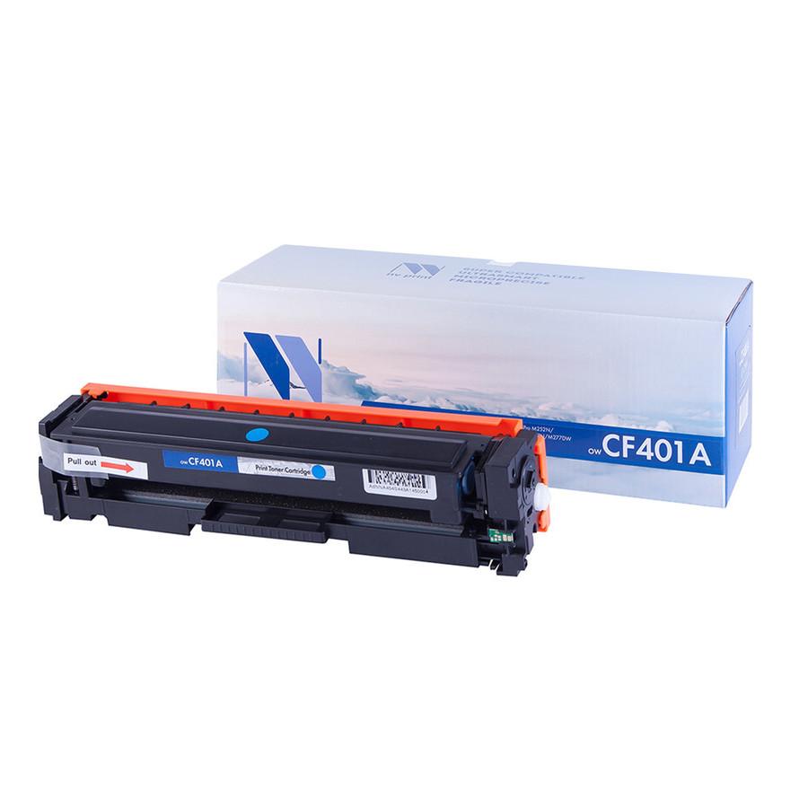 Картридж NV Print CF401A Cyan для HP LaserJet Color Pro M252dw/M252n/M274n/M277dw/M277n 1400к