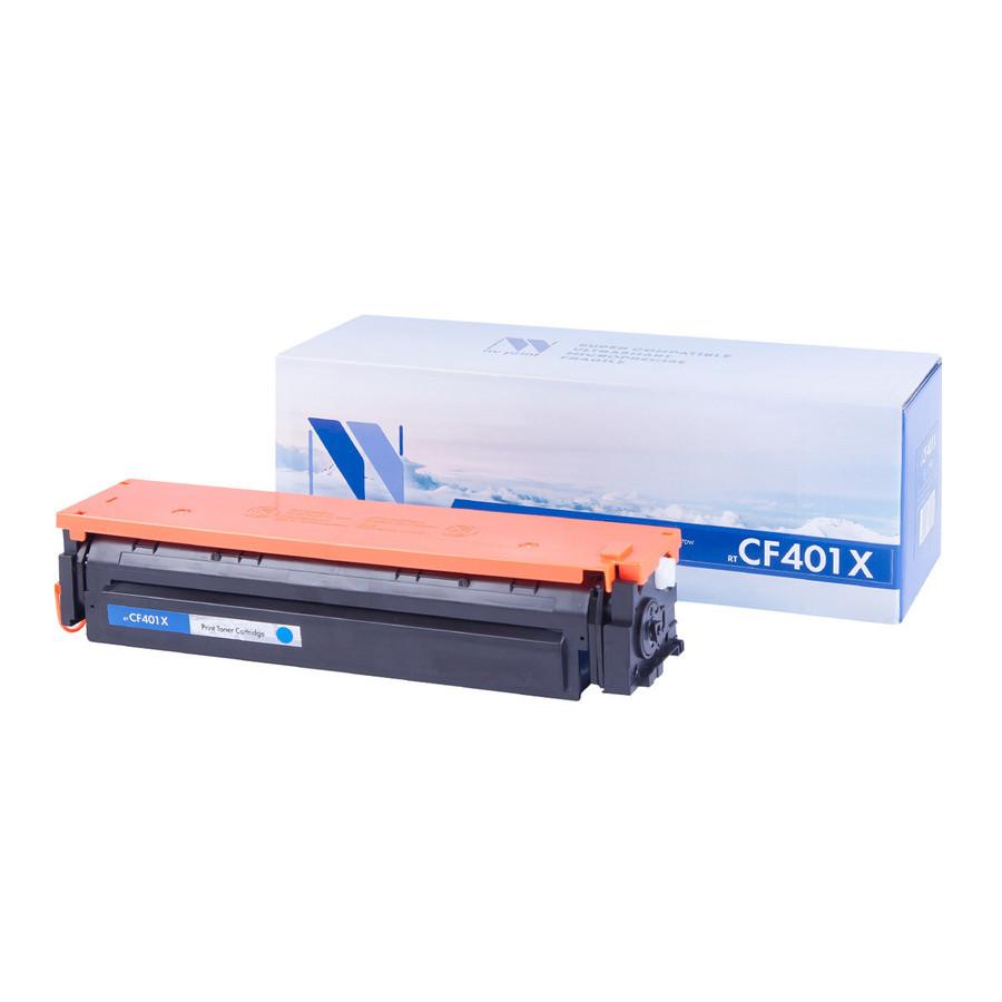 Картридж NV Print CF401X Cyan для HP LaserJet Color Pro M252dw/M252n/M274n/M277dw/M277n 2300k картридж nv print nvp cf402a yellow для hp clj color m252dw m252n m274n m277dw m277n 1400стр