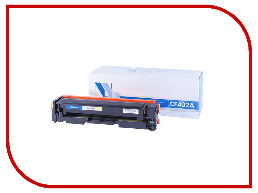 Картридж NV Print CF402A Yellow для HP LaserJet Color Pro M252dw/M252n/M274n/M277dw/M277n 1400к toner reset chip for hp colour laserjet pro m252dw m252n mfp m277dw m277n printer cartridge 201a cf400a cf401a cf402a cf403a