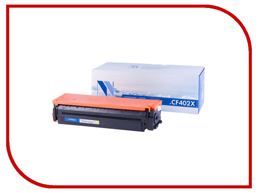 Картридж NV Print CF402X Yellow для HP LaserJet Color Pro M252dw/M252n/M274n/M277dw/M277n 2300k toner reset chip for hp colour laserjet pro m252dw m252n mfp m277dw m277n printer cartridge 201a cf400a cf401a cf402a cf403a