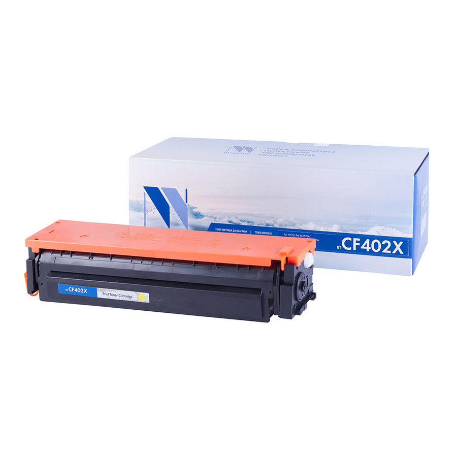 Картридж NV Print CF402X Yellow для HP LaserJet Color Pro M252dw/M252n/M274n/M277dw/M277n 2300k